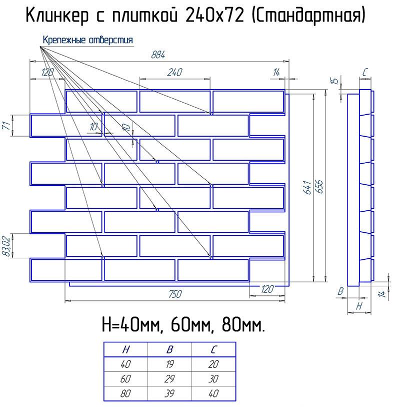 размеры фасадных плит